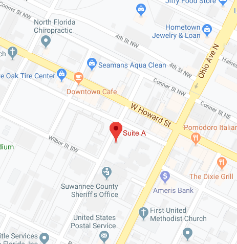 Map to Suwannee County main office